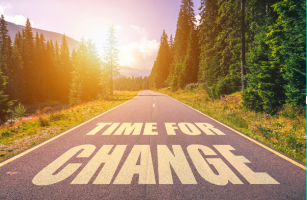 Time for change graphic