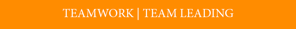 Team work and Team Leading - Banner